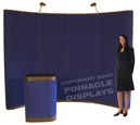 Eclipse velcro-fabric pop up trade show display booth
