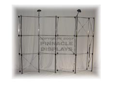 Eclipse 10ft WAVE floor pop-up trade show display frame
