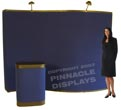 10ft WAVE velcro-panels pop-up trade show displays