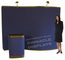 10ft WAVE popup trade show displays