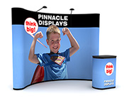 10 ft pop up trade show display with full graphics