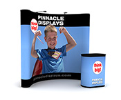 8 ft pop up trade show display with full graphics