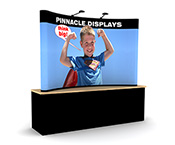 8ft tabletop trade show display with full graphics