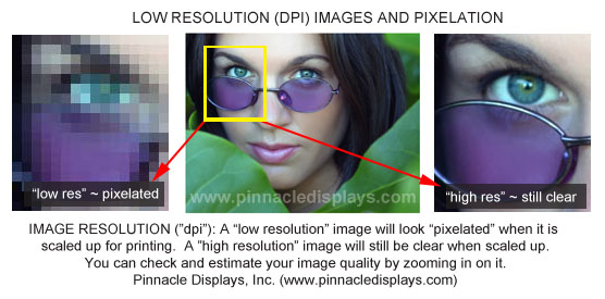 image resolution (dpi) for trade show display graphics